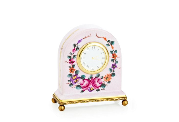 Floral Garland Clock Box