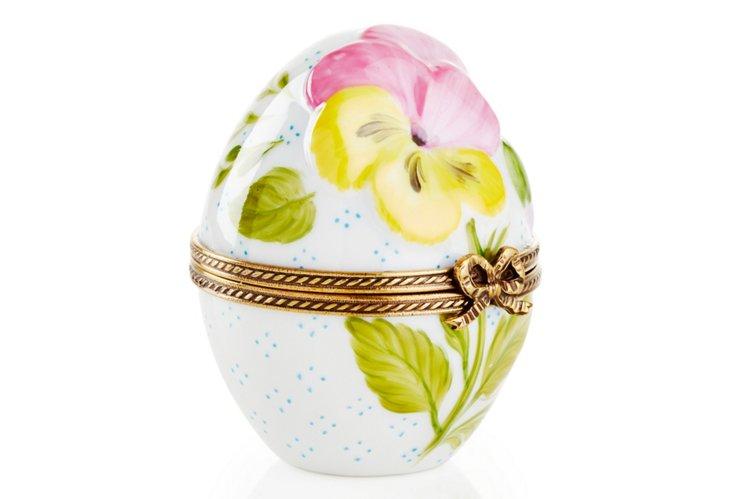 Pansy Egg-Shape Box