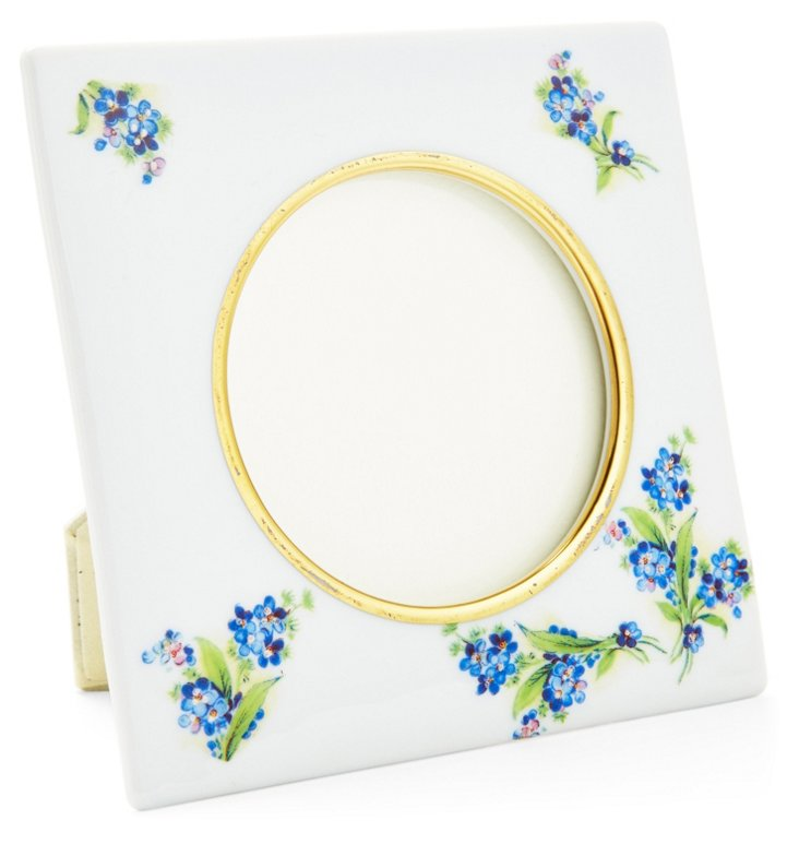 Small Square Forget-Me-Not Frame, Blue