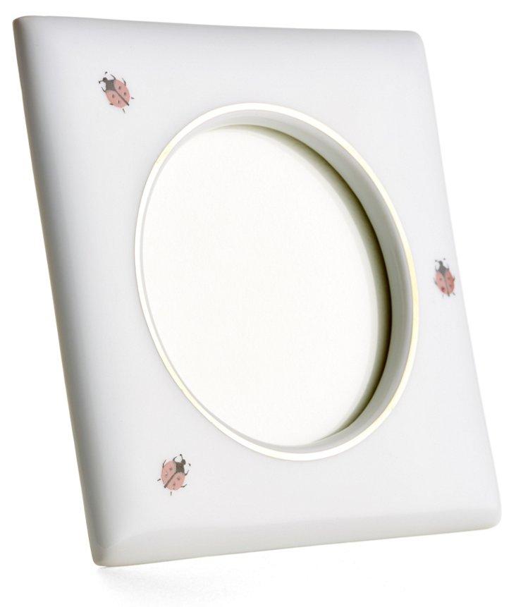 Square Ladybug Frame, 3.5x3.5