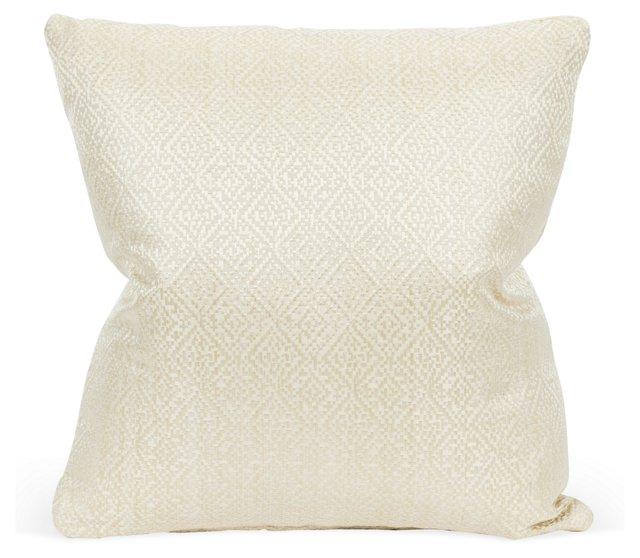 Soft Geometric Weave Pillow