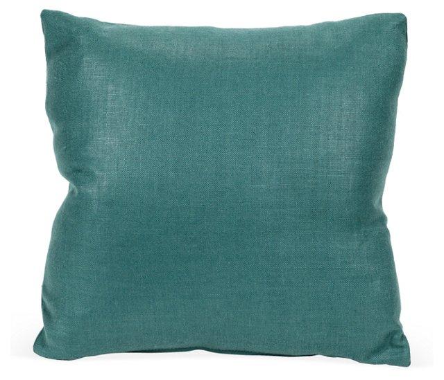 Teal Blue Cotton Pillow