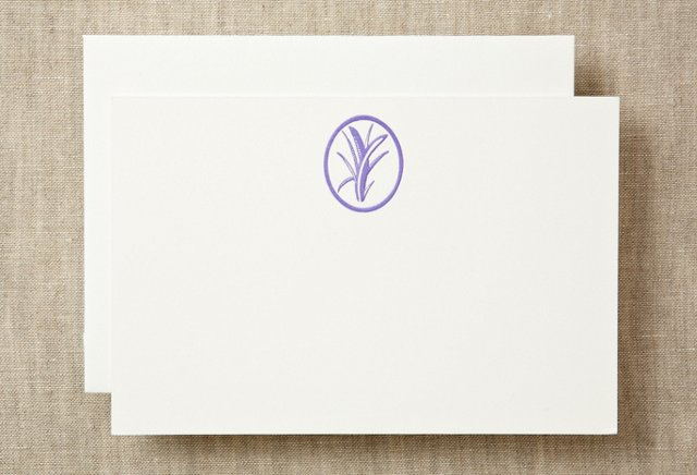 S/10 Pampas Grass Notecards, Lavender