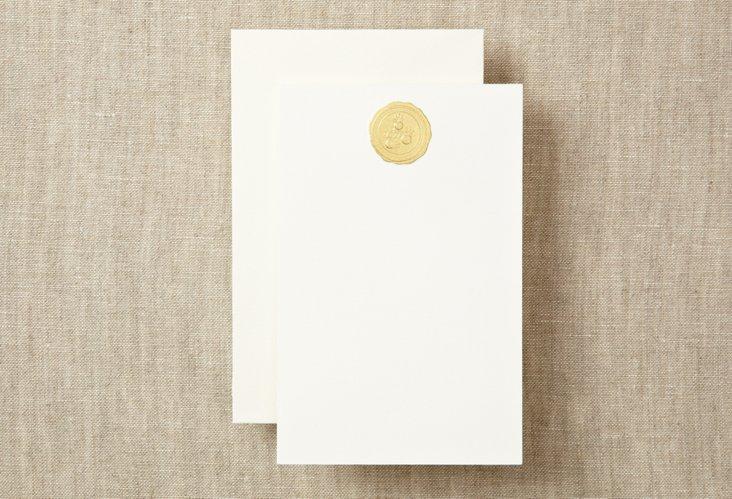 S/12 Orange Blossom Note Cards