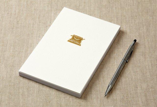 S/2 Typewriter Notepads, Gold