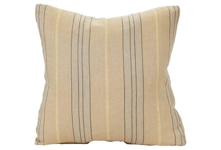 Crisp Striped Linen Pillow