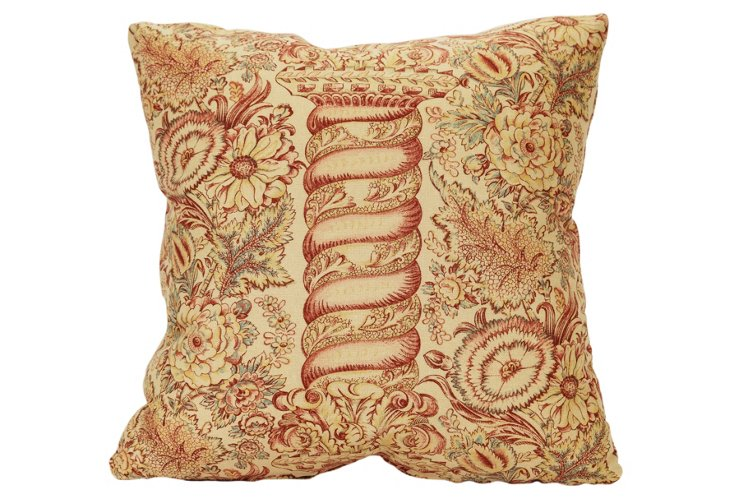 "Colefax and Fowler ""Farah"" Fabric Pillow"