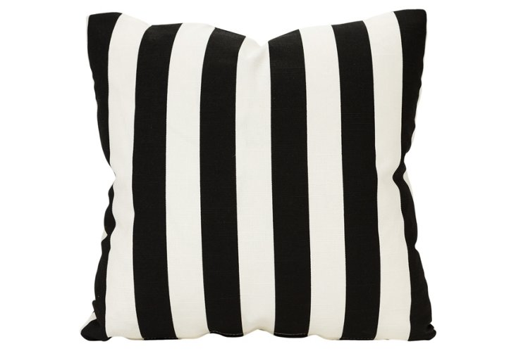 Dramatic Striped Pillow