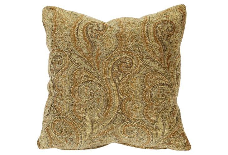 Soft Toned Paisley Pillow