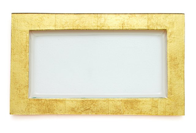 """Textured Gold Leaf Serving Tray, 21"""""""