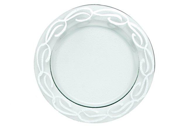 Cake Plate, Silver Swirl