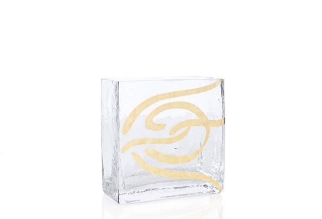 Swirl Vase, Large Gold