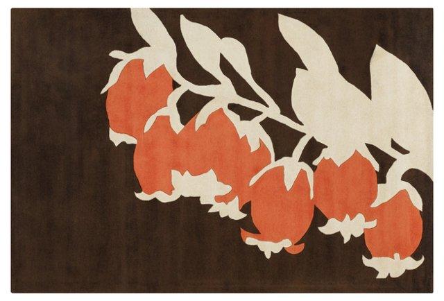 Buds Rug, Brown/Orange