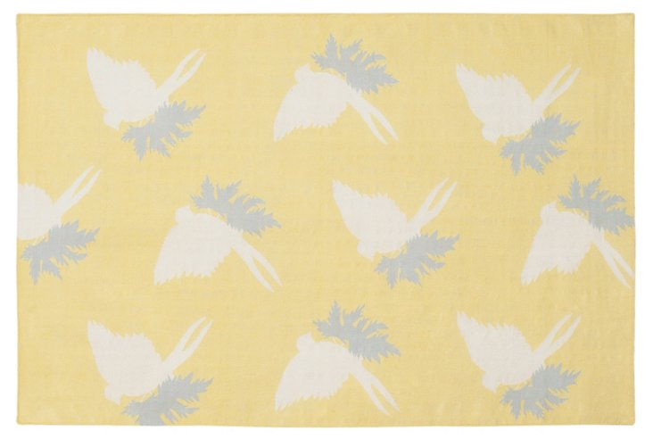 Swallows Rug, Corn/Cream