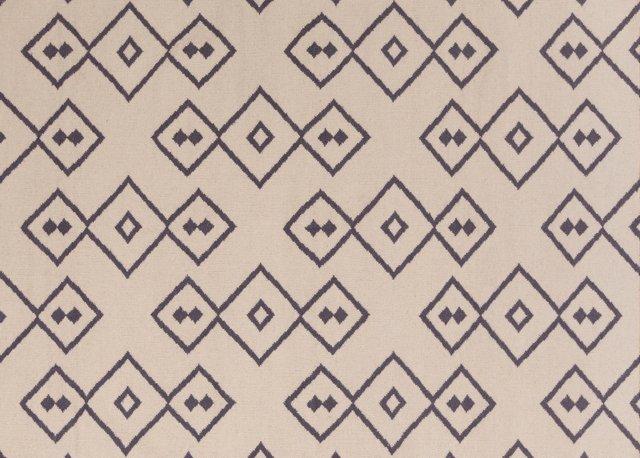 Keats Flat-Weave Rug, Beige/Charcoal