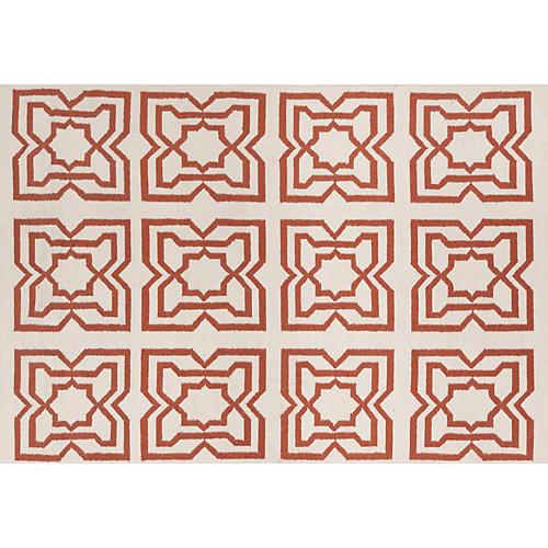 Hollis Flat-Weave Rug, Orange