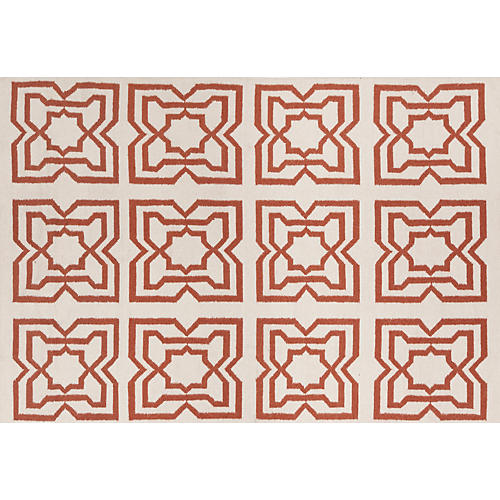 Hollis Flat-Weave Rug, Orange