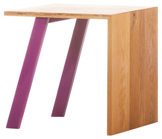 De Stijl Side Table/Stool, Purple