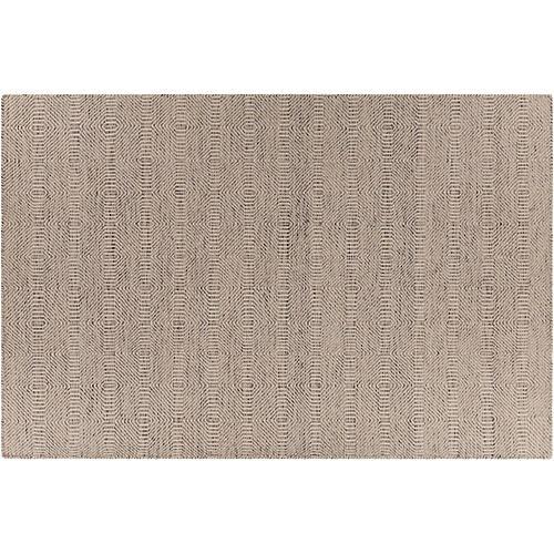 Kyrie Flat-Weave Rug, Brown