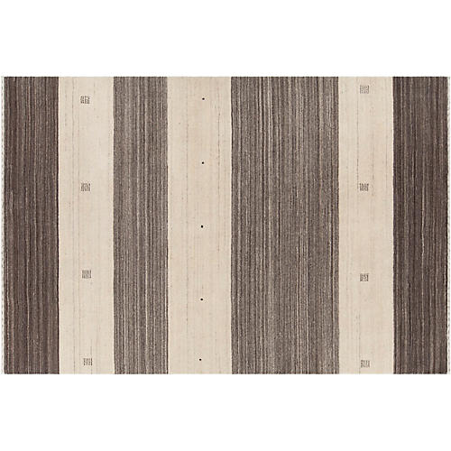 Fin Hand-Knotted Rug, Brown
