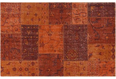 Lea Patchwork Kilim, Orange