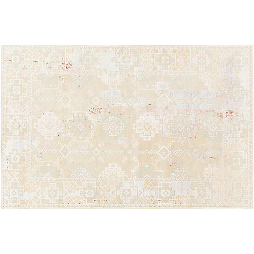 Land Hand-Knotted Rug, Green