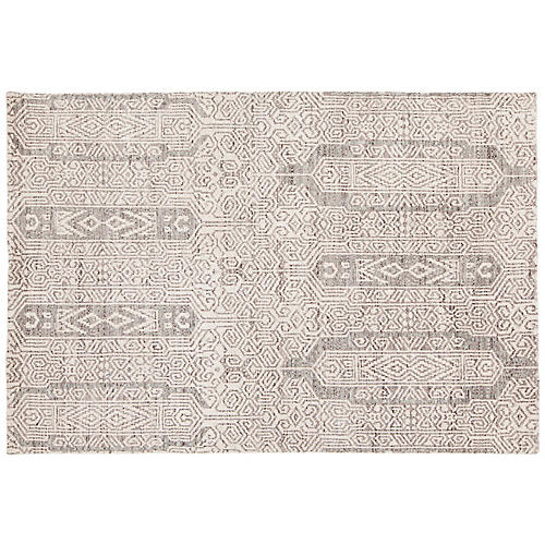 Cardean Rug, Gray/White