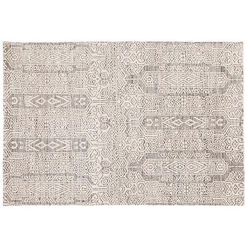 Cardean Rug, Gray/White