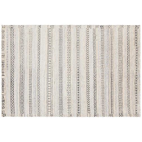 Benvie Rug, White/Gray