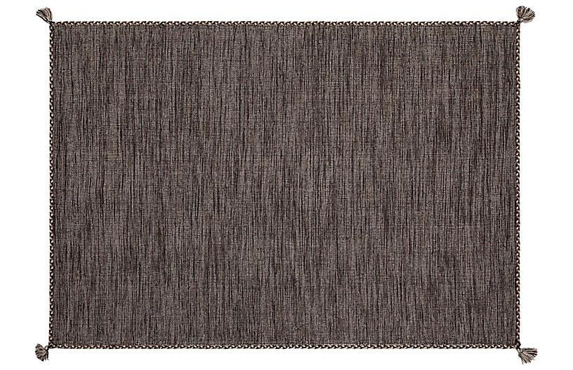 Fairbairn Flat-Weave Rug, Gray