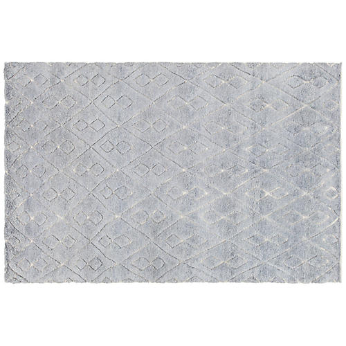 Amasa Hand-Knotted Rug, Blue