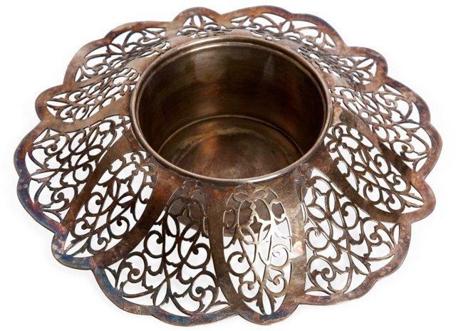 Silverplate Centerpiece Bowl, Small