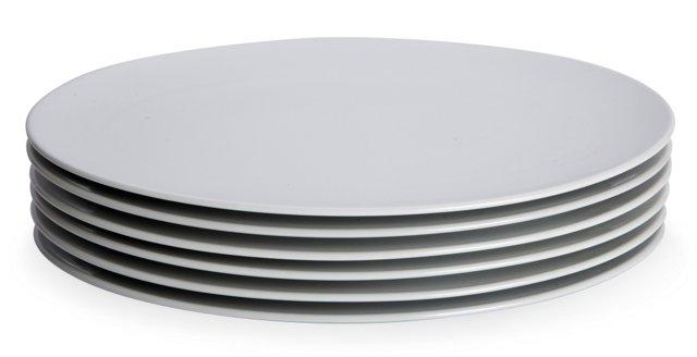 Large Oval Dinner Plates, Set of 6