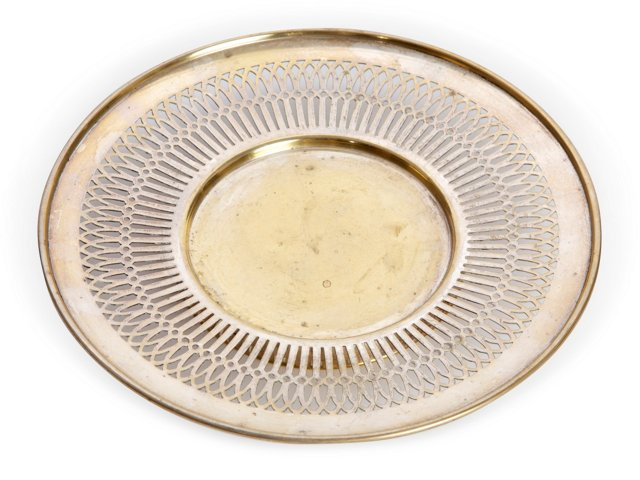 Silverplate Tray w/Reticulated Border