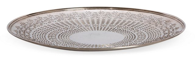 Silverplate Tray w/Reticulated Design