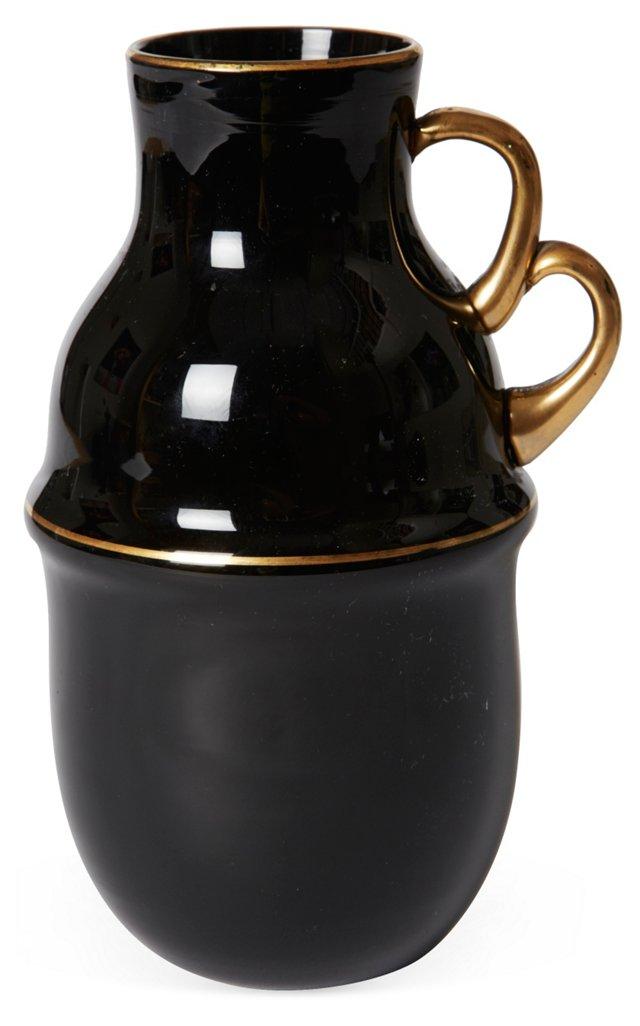 Black & Gold Ceramic Vase