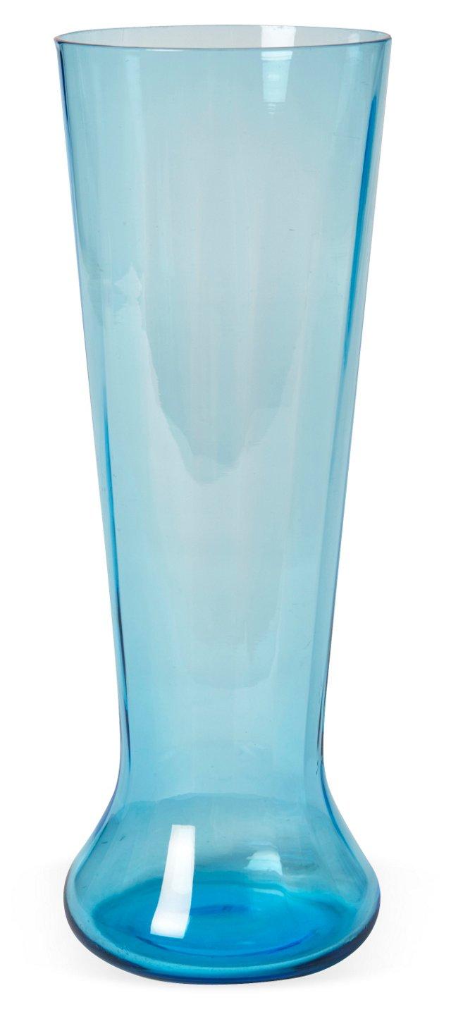 Aqua Glass Vase