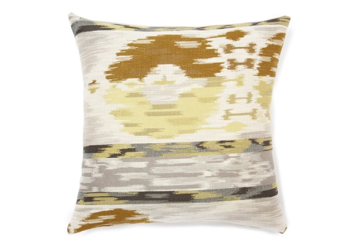 Ikat 18x18 Pillow, Wheat