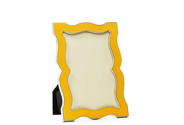 4x6 Scalloped Orange Enamel Frame