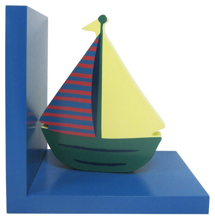 Right Sailboat Bookend, Multi