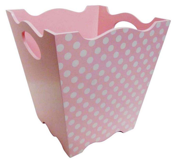 Dots Waste Basket, Pink