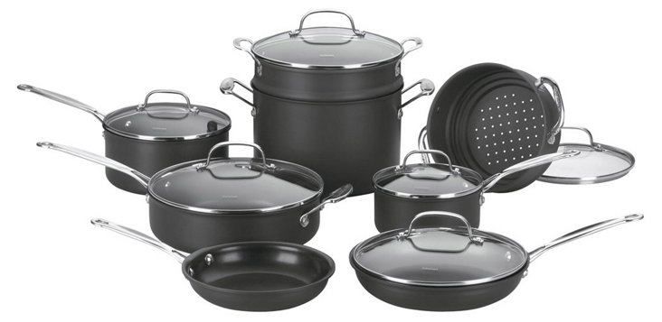 14-Pc Chef's Classic Cookware Set