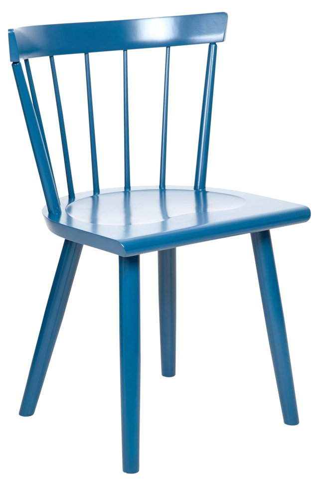 Low Colt Side Chair, Brittany Blue