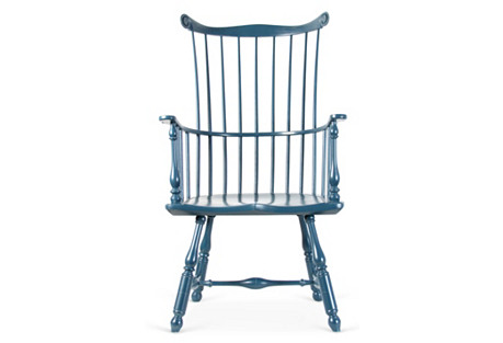 Benefit Highback Armchair, Brittany Blue