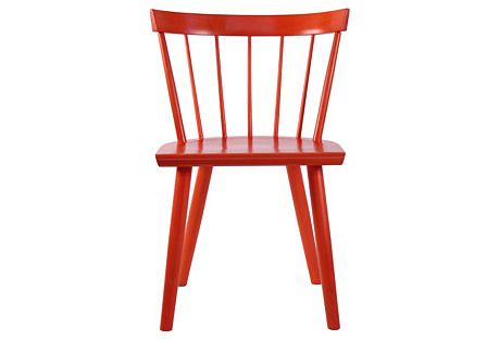 Colt Lowback Side Chair, Red