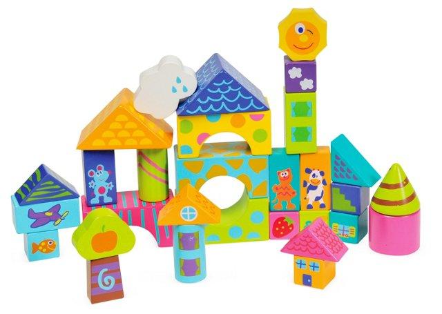 30 Piece Wooden Block Set
