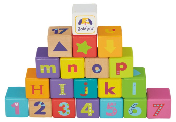 28-Piece Wooden ABC Cubes