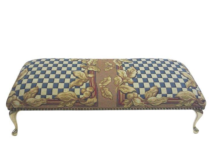 Caleb Checkerboard Ottoman
