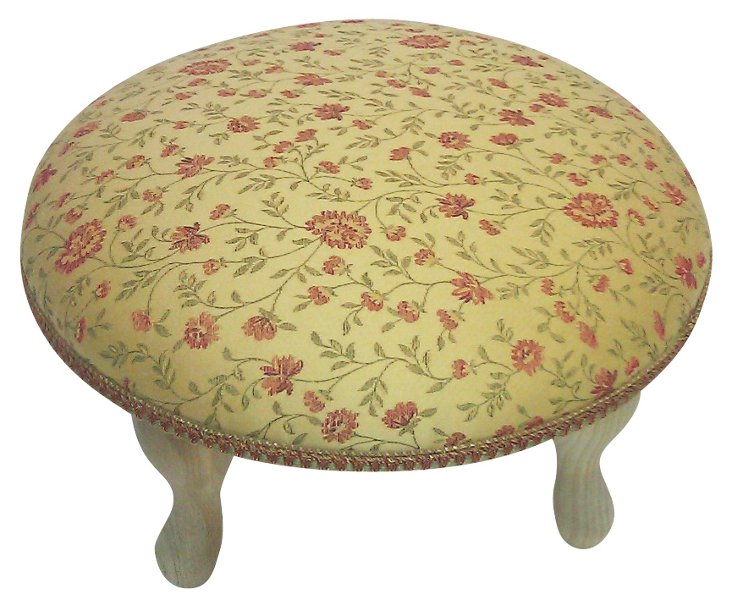 Floralia Footstool, Yellow
