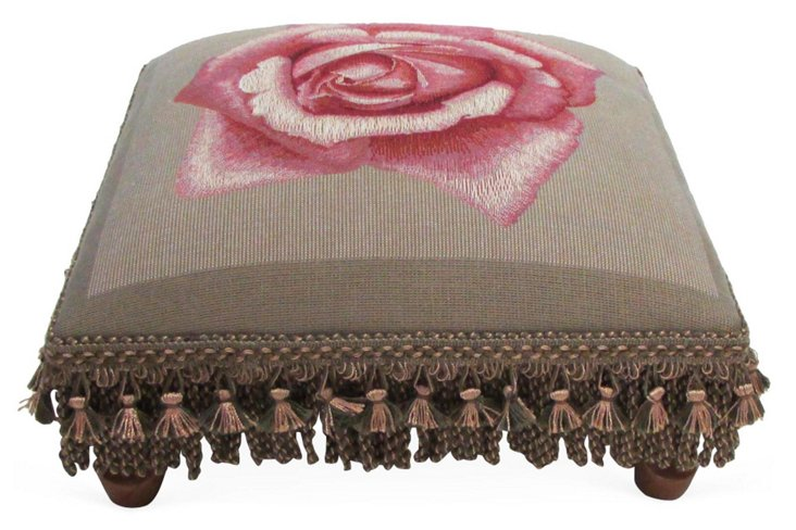 Pink Rose Footstool